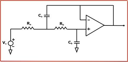Sallen-Key Active Butterworth Low Pass Filter Calculator
